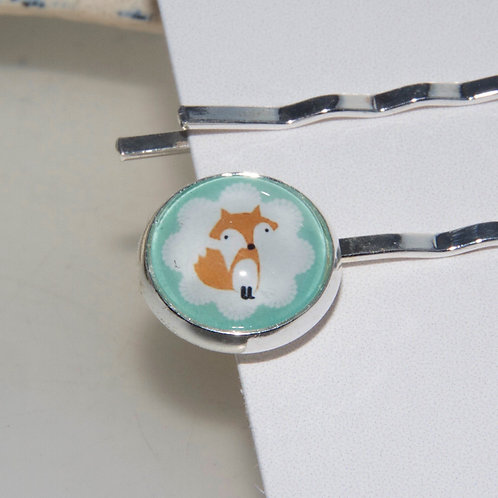 Cute Fox Bobby Pin Set
