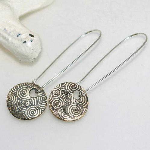 Handmade Bronze Coin Earrings