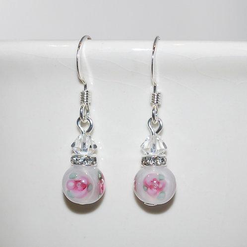 Little White Flower Earrings