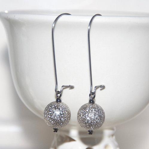 Gunmetal Stardust Earrings