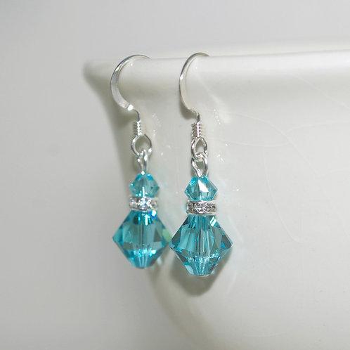 Light Turquoise Swarovski Crystal Earrings