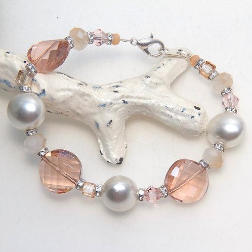 Rosaline Pastel Shell Pearl Bracelet