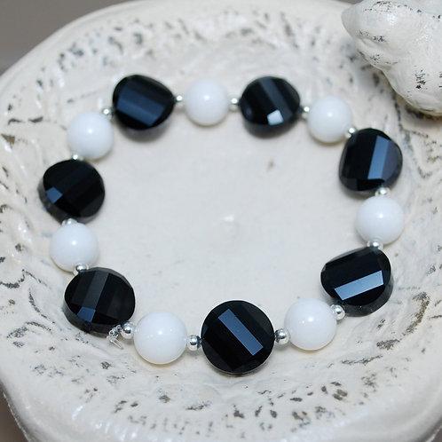 Black and White Elastic Bracelet