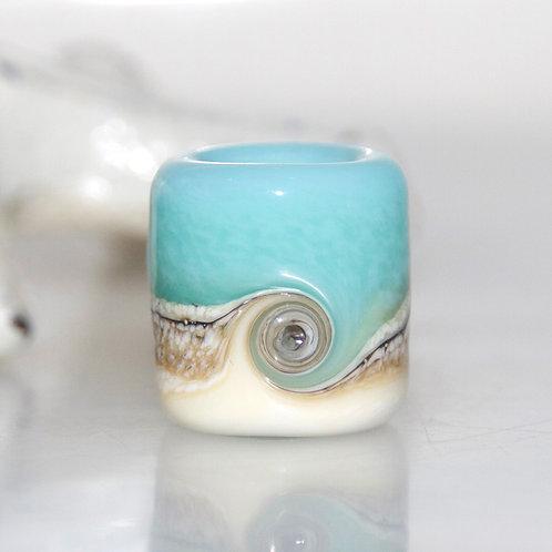 Milky Beach Swirl Dread Bead 8.5mm Hole