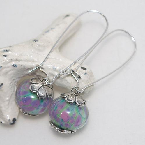 Pretty Monet Glass Earrings Long