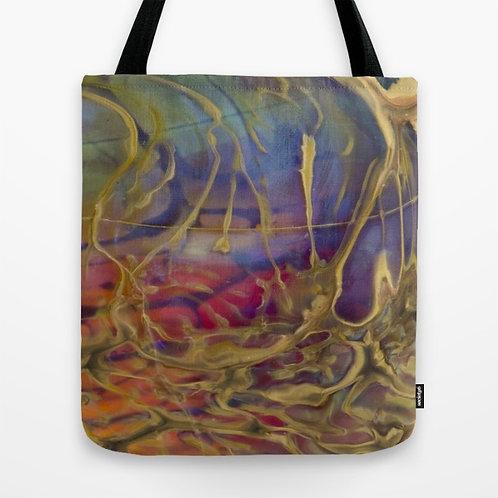 Lush Rainbow Glass Art Tote Bag Medium