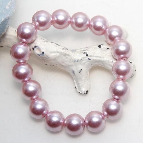 Pastel Pink Pearl Elastic Bracelet