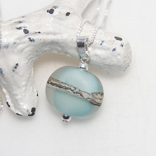 Satin Beach Pebble Organic Necklace