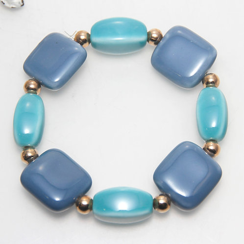 Ceramic Blues Elastic Bracelet