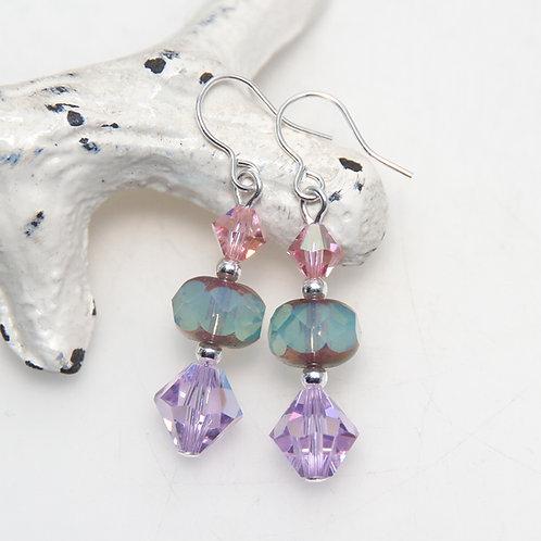 lilac swarovski crystals