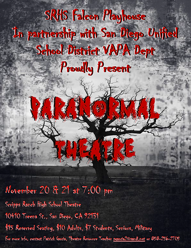 SRHS Falcon Playhouse Paranormal Flyer13
