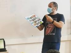 Jean-Luc Garréra auprès des élèves