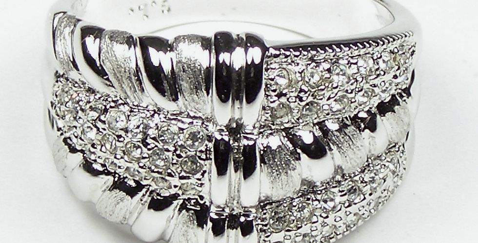92909 Rhodium Torsade Ring