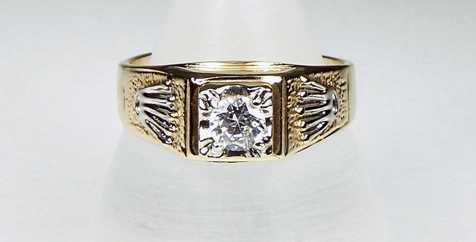 1031 Gold Fingers Zircon Ring