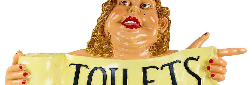 Resin Toilet Sign 70cm