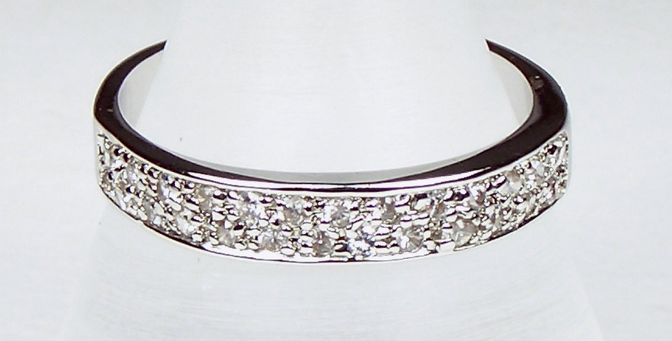 Rhodium Diamante Band
