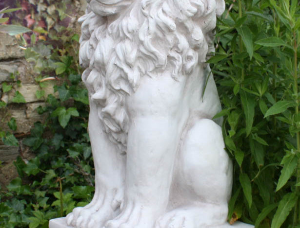 Stone Effect Sitting Lion Statue