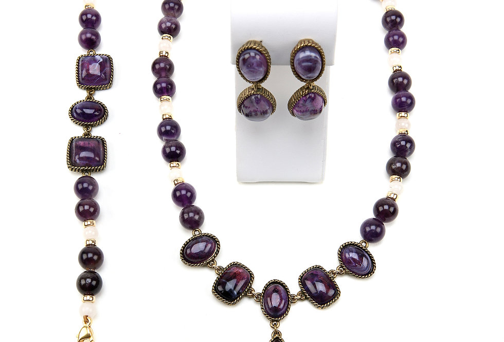 Purple Cabochons Set