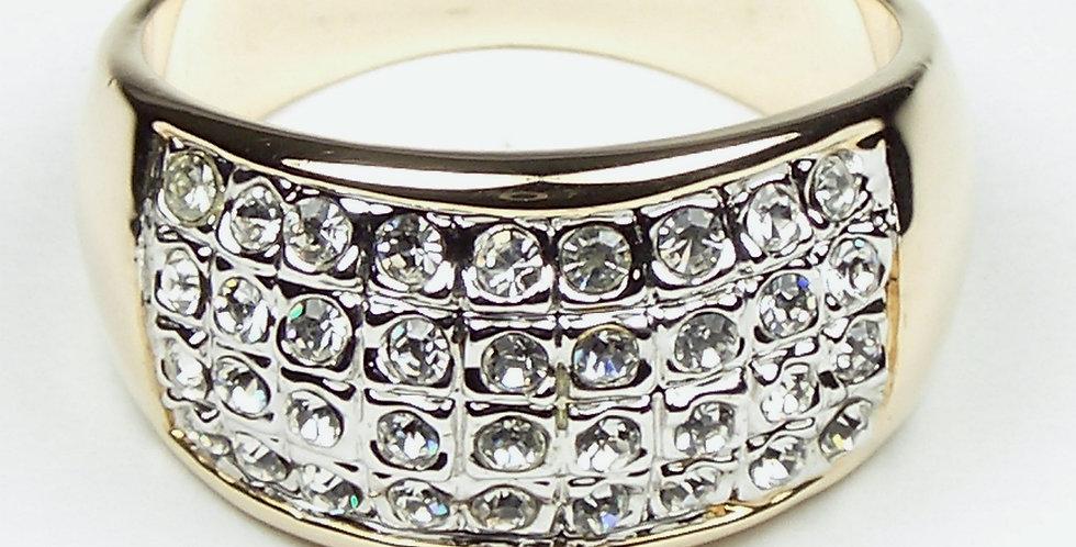 4 Lines Zircon Stones Ring
