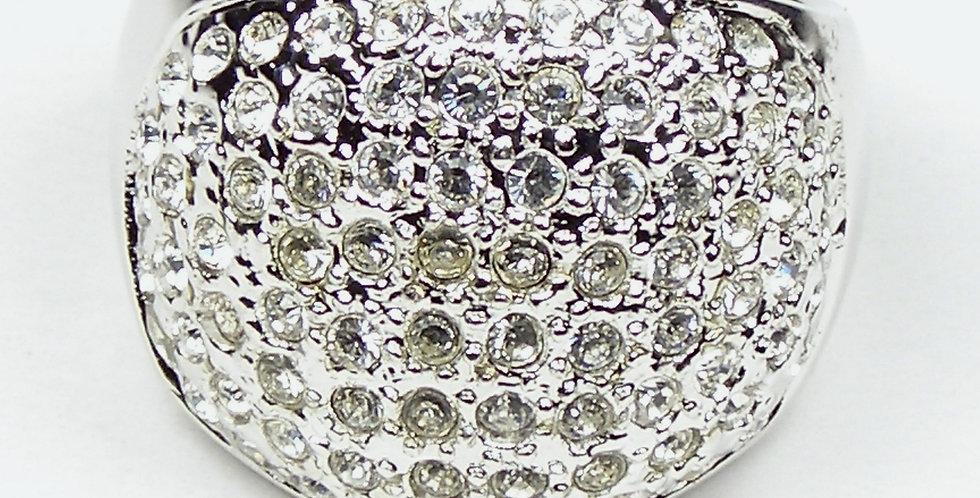 Rhodium Squarish Ring