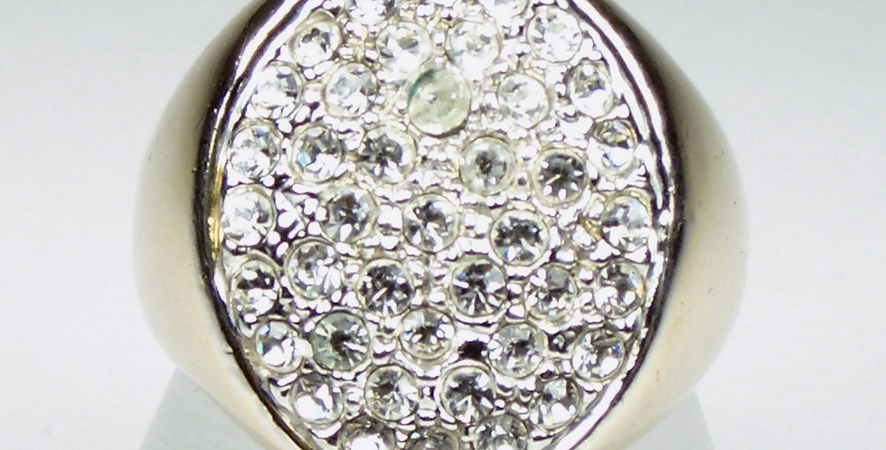 Gents Oval Diamante Ring