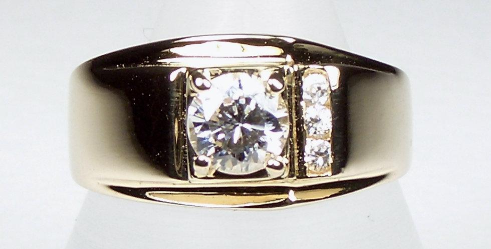 Single Stone Signet Ring