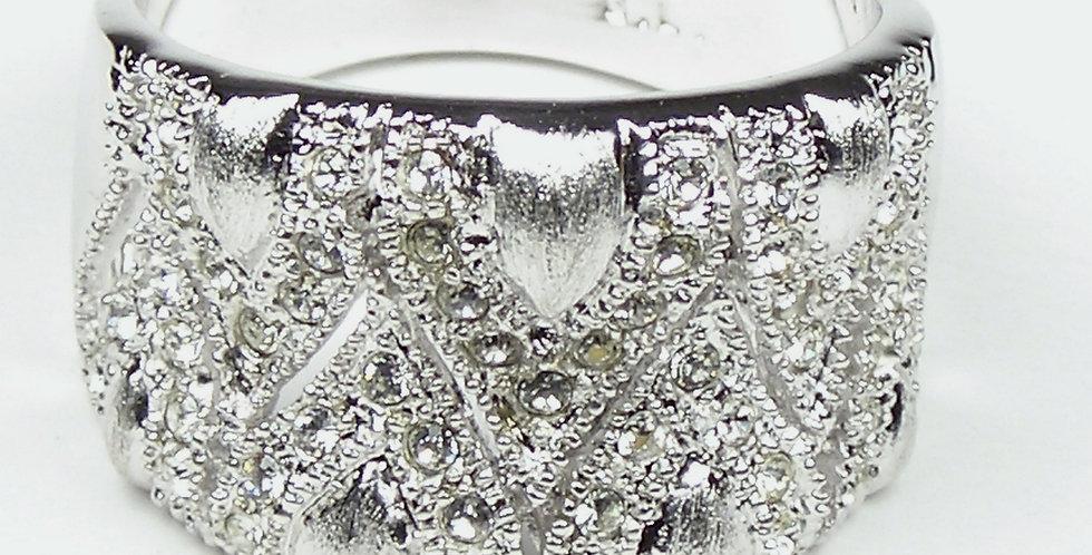 Rhodium Drops Ring