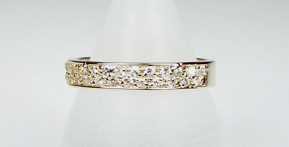 6221 Gold Diamante Band