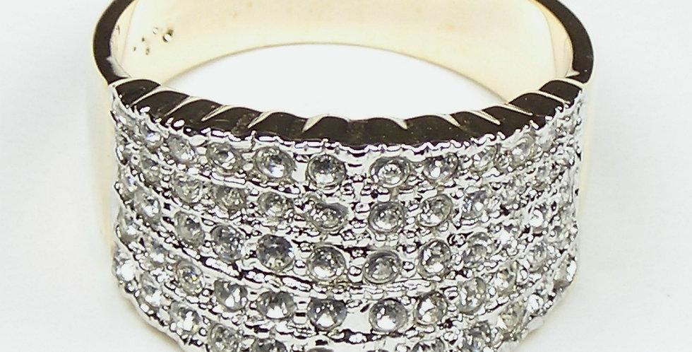 Wide Band Zircon Ladies Ring