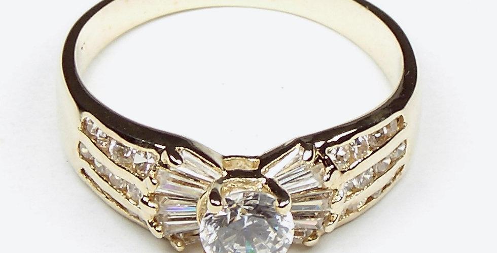Gold Baguette Ladies Ring