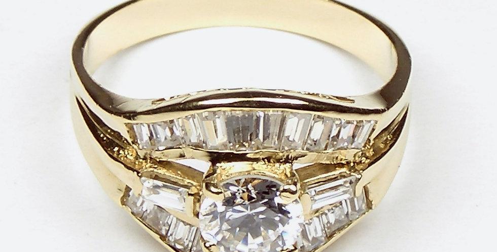 Gold Filled Baguette Ring