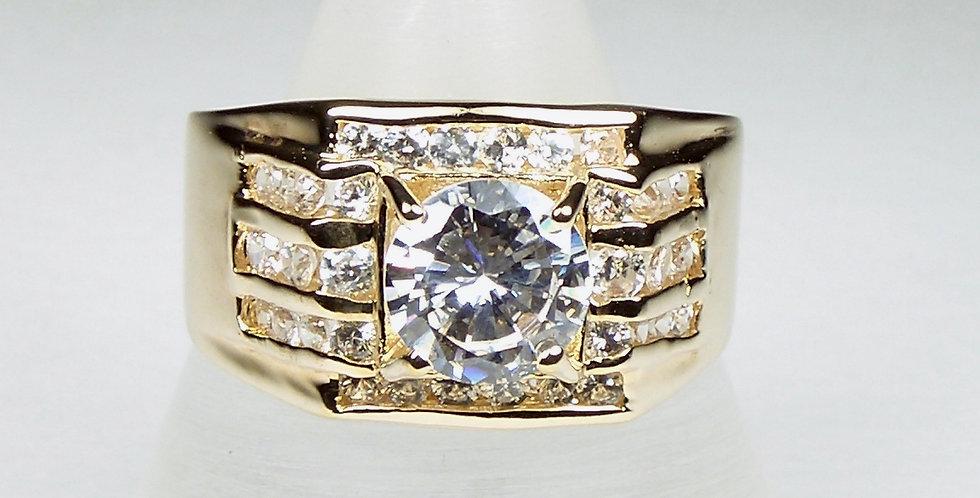 Gold Top Zircon Ring