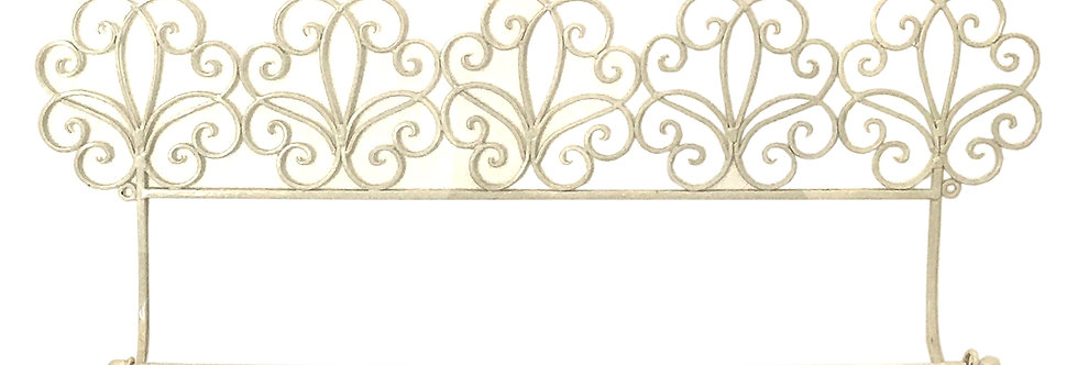 Cream Scroll Towel Rail
