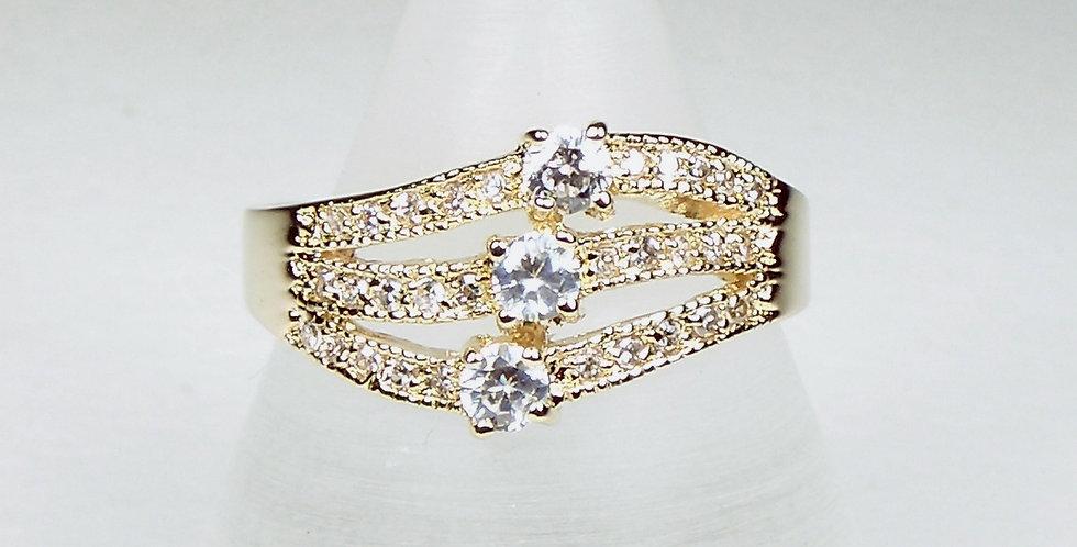 Diamante Lines Ring