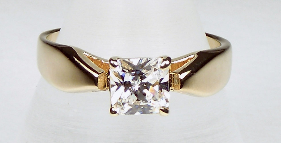 Finer-Square-Zircon-Ring