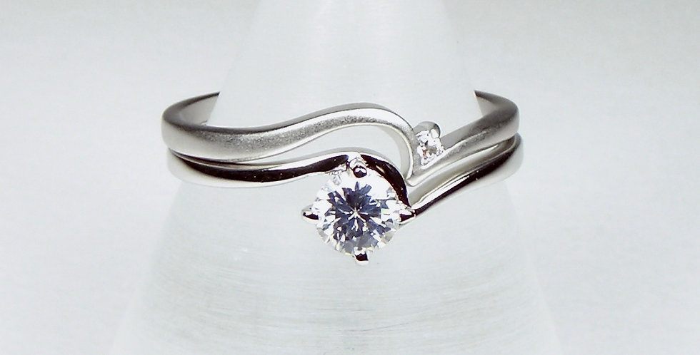 Silver Pointed 2 in one Ring