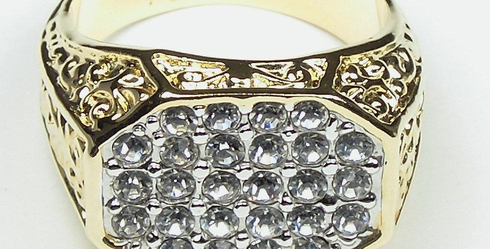 95401 Hexagonal Gents Ring