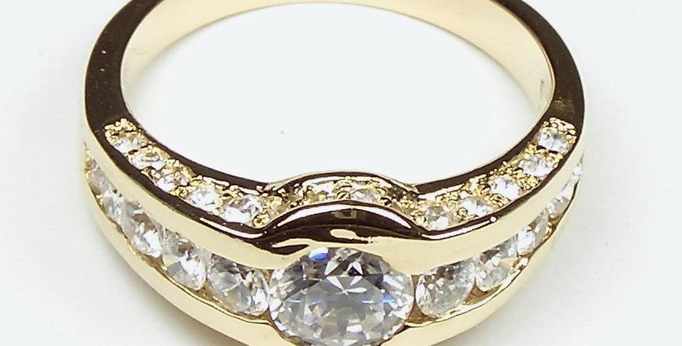 Gold Zirconia Ladies Ring