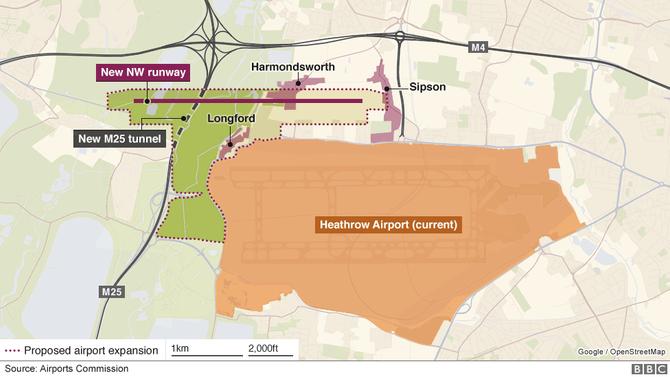 Heathrow Expansion Map