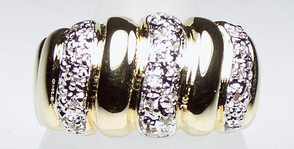 Gold Segmented Ring