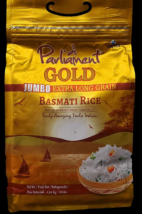 PARLIAMENT GOLD JUMBO EXTRA LONG RICE 10LB