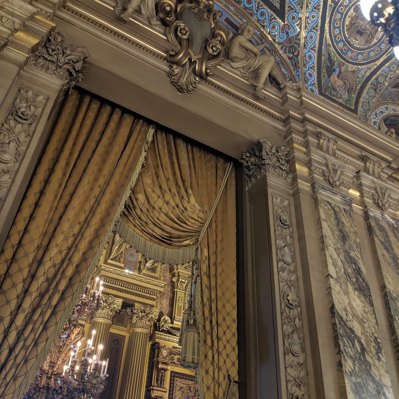 Drapery at the Palais Garnier Paris Opera House