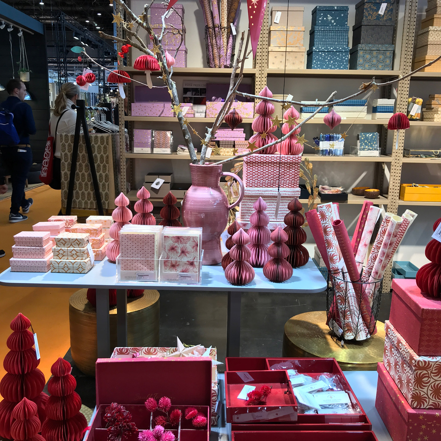 Burgundy and Mauve Papergoods Display at Maison & Objet