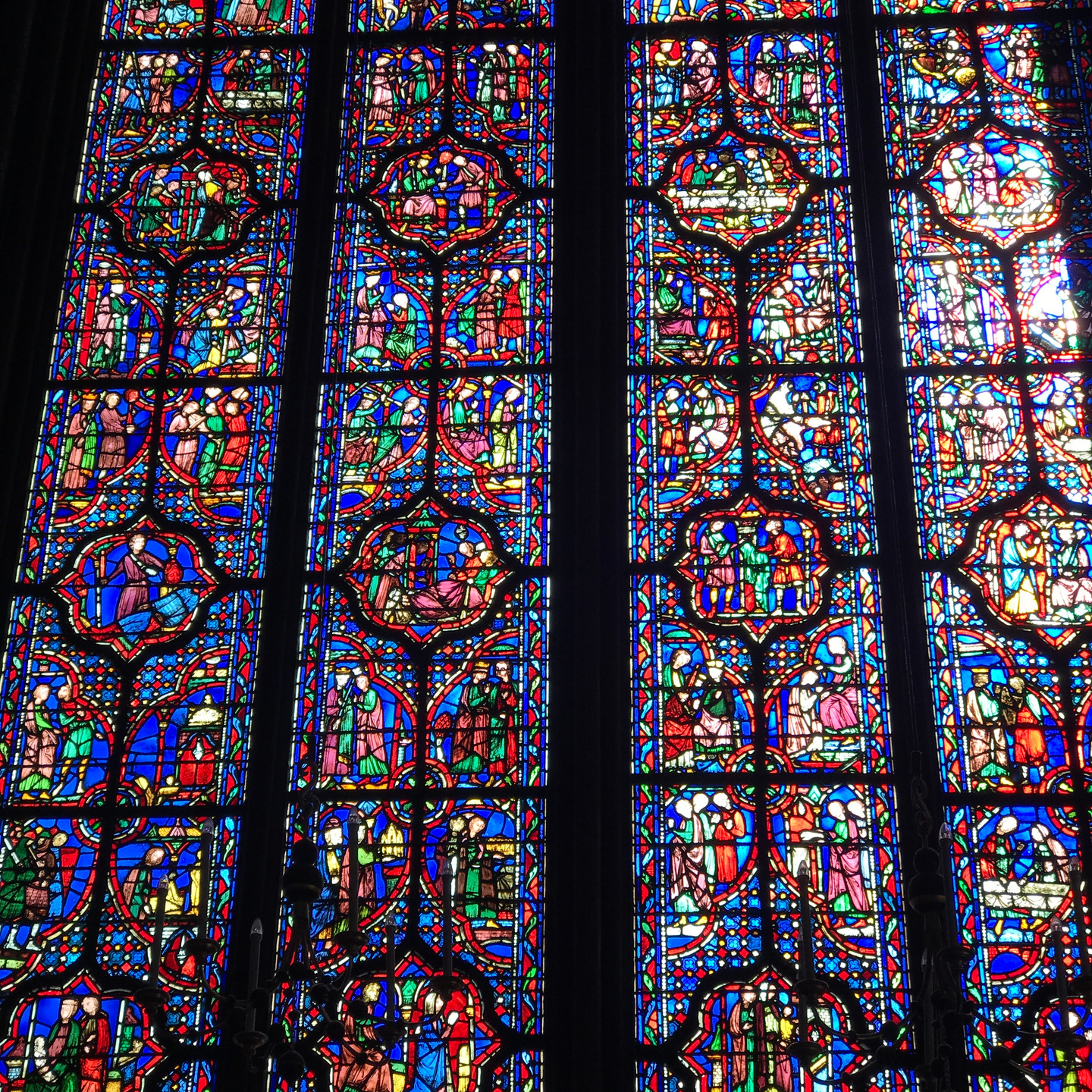 Stained Glass Windows at Sainte Chapelle in Paris