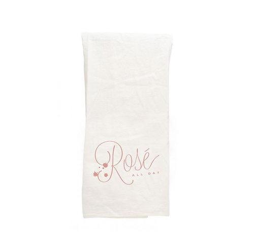 Rosé All Day Tea Towel