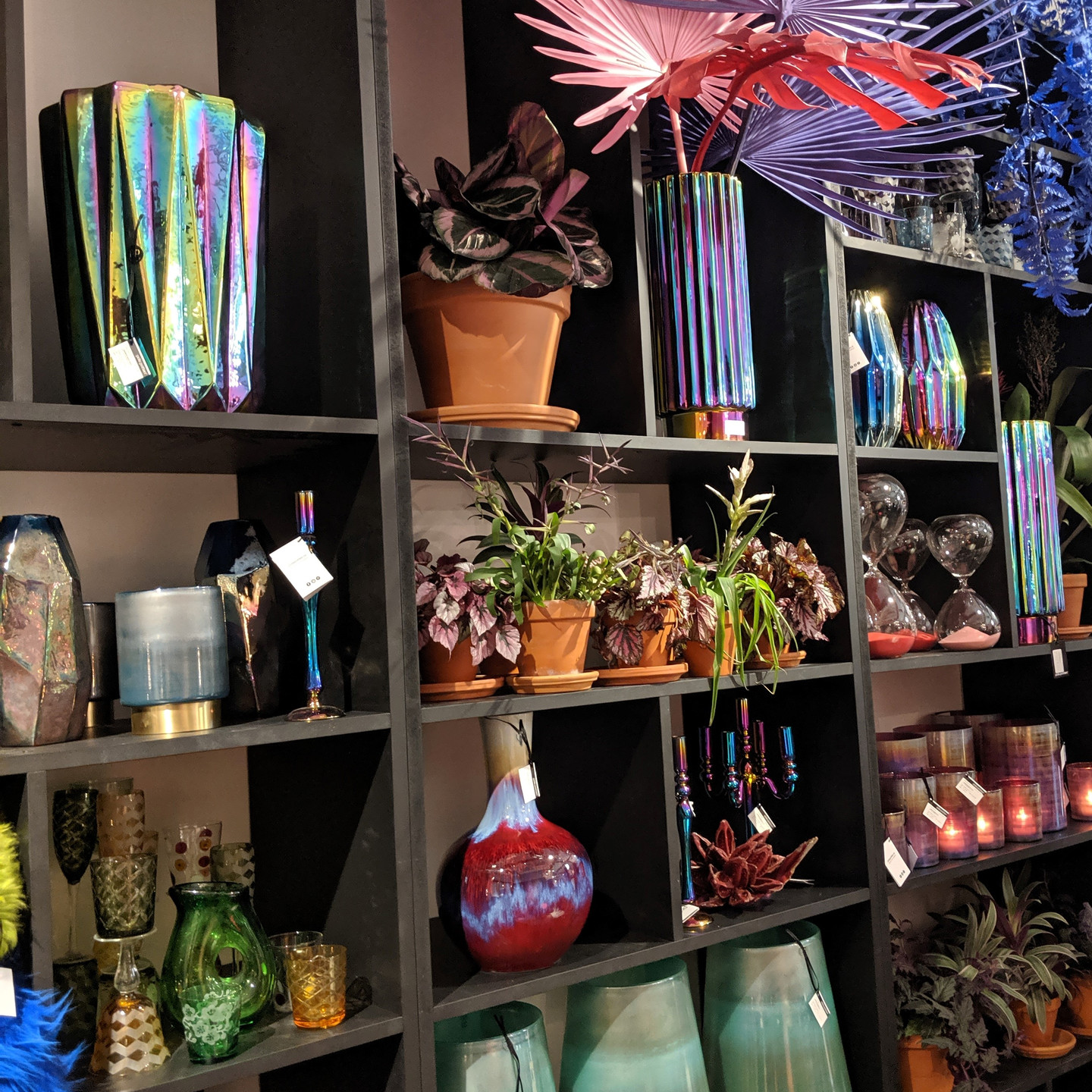 Home Decor Display with Assorted Iridescent