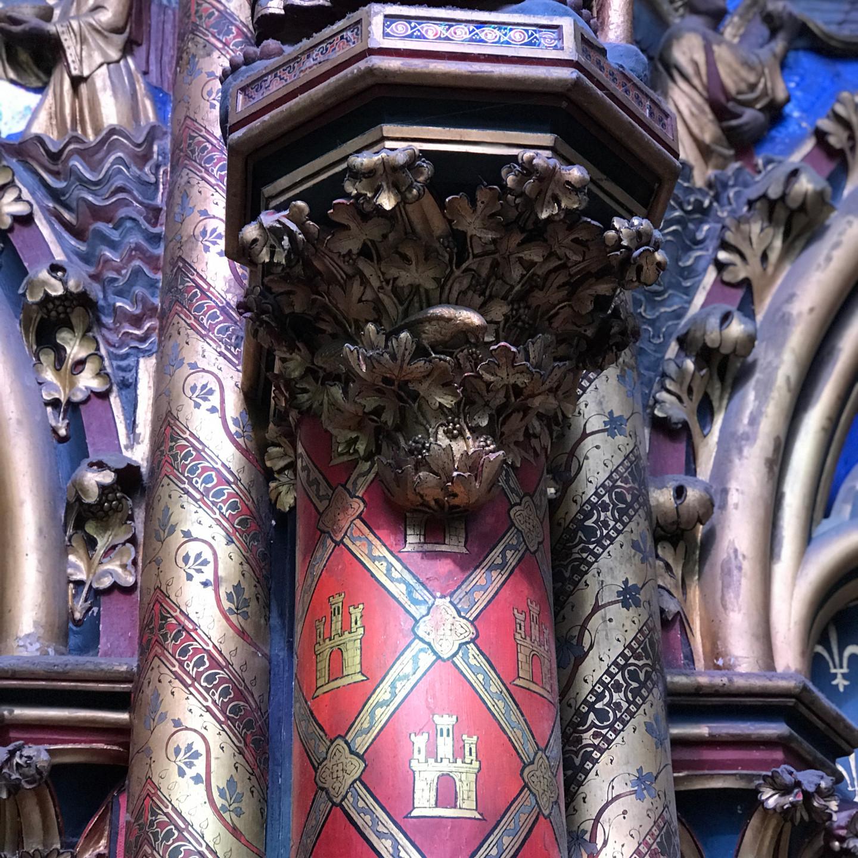 Carving Detail in Sainte Chapelle in Paris