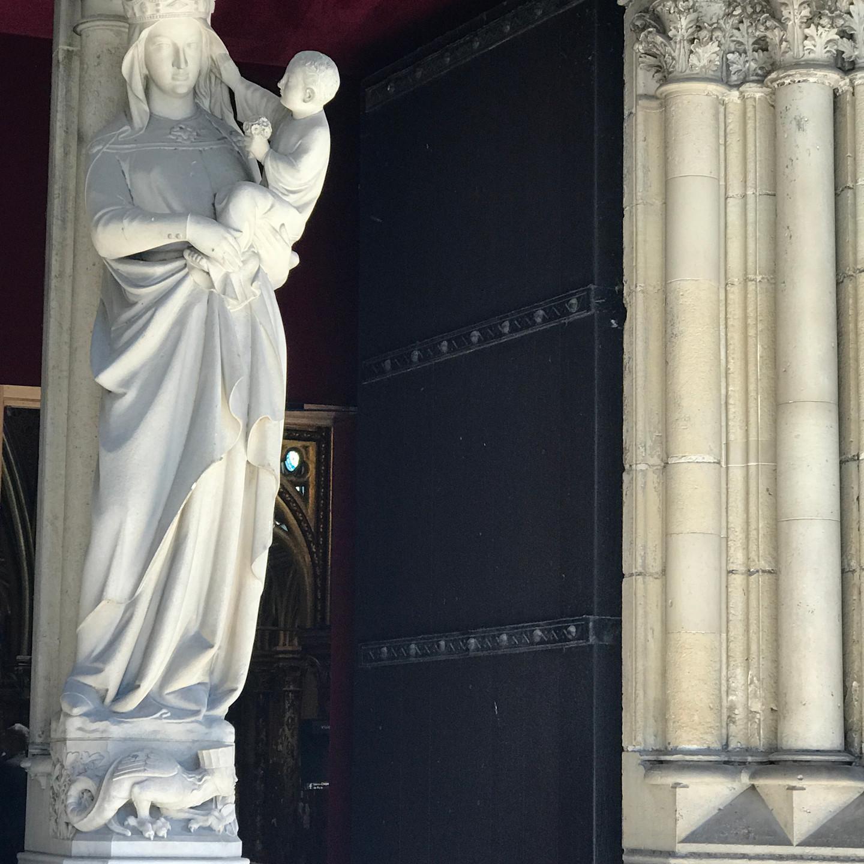 Statue Outside of Sainte Chapelle in Paris