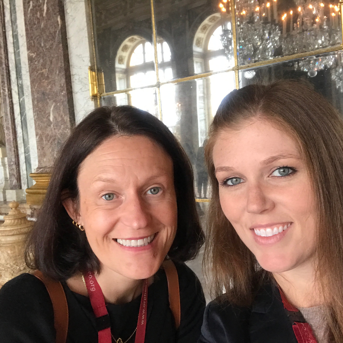 Laura Fox & Illia Schwarz in the Hall of Mirrors at Versailles