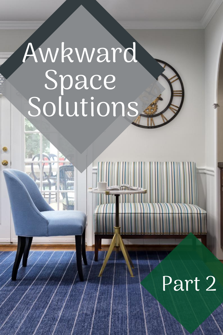 Awkward space solution with chair settee and end table